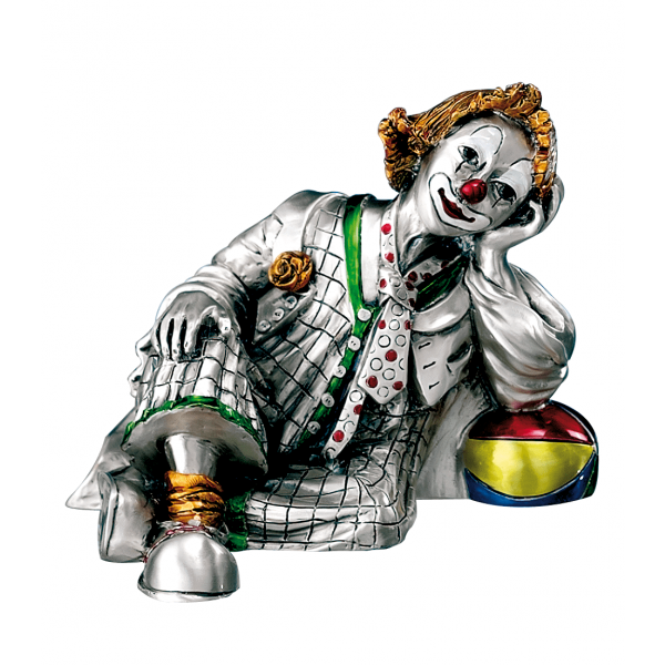 Mida Shop | Clown Riflessivo dipinto a mano