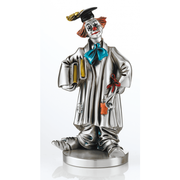 Mida Shop | Clown Laureato dipinto a mano