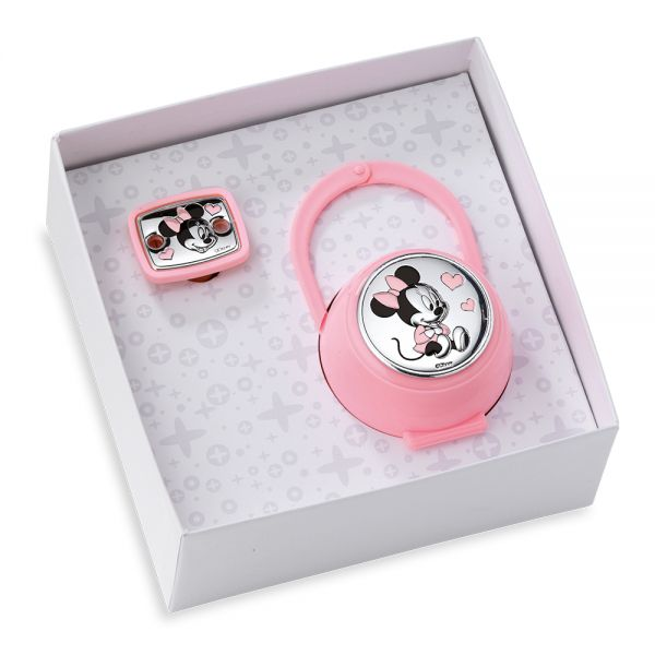 Mida Shop | Set 2 pezzi (box e spilla portaciuccio) Minnie Mouse