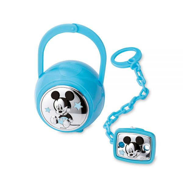Mida Shop | Set 2 pezzi (box e spilla portaciuccio) Mickey Mouse